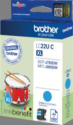 Comprar cartucho de tinta LC22UC de Brother online.