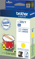 Comprar cartucho de tinta LC22UY de Brother online.