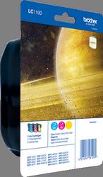 Comprar pack de 3 cartuchos de tinta LC1100RBWBPDR de Brother online.