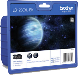 MULTIPACK NEGRO LC-1280 XL ALTA CAPACIDAD PACK 2 BROTHER LC-1280XLBK2DR