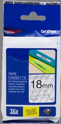 cinta rotuladora laminada Transparente negro 8M 18 mm
