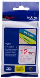 Brother cinta rotuladora laminada Rojo Blanco 8M 12 mm