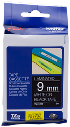 Brother cinta rotuladora laminada Negro Blanco 8M 9 mm