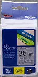 cinta rotuladora negro sobre plata Mate TZ-M961 36 mm x 8 m laminado Brother