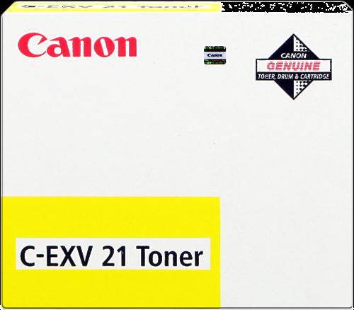 CARTUCHO DE TÓNER AMARILLO CANON C-EXV-21 14000 PÁGINAS