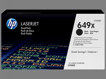 Comprar pack 2 cartuchos de toner CE260XD de HP online.