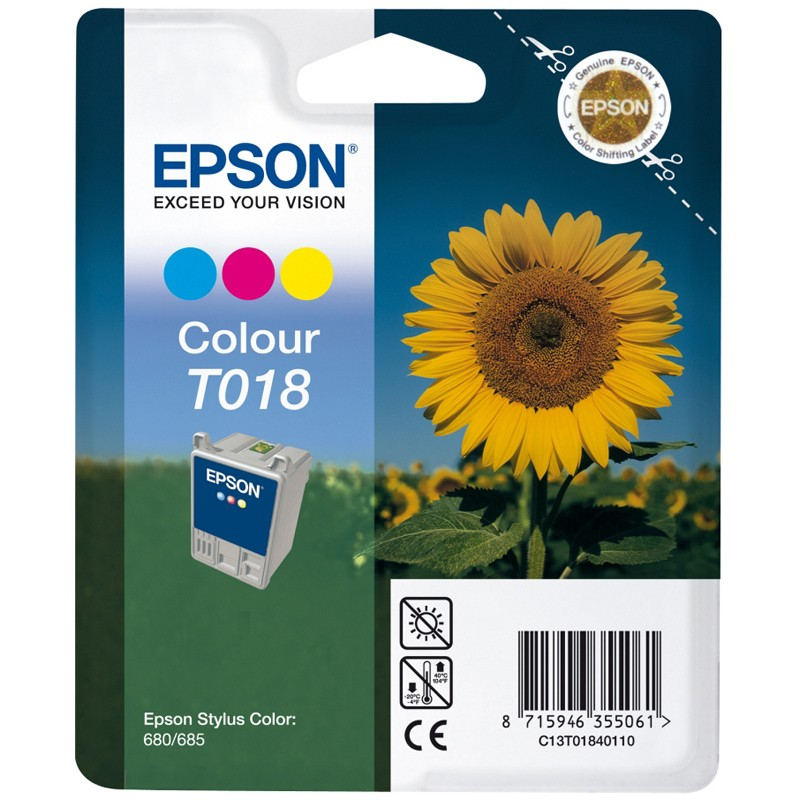 CARTUCHO DE TINTA COLOR EPSON T0180