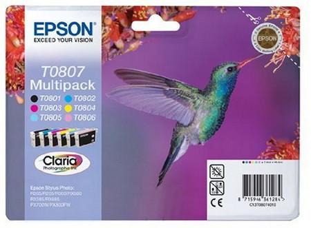 Cartucho de tinta CARTUCHO DE TINTA MULTIPACK T080140+240+340+440+540+640 EPSON T0807