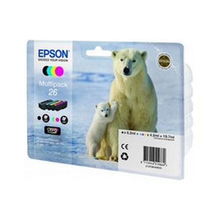 Cartucho de tinta CARTUCHO DE TINTA NEGRO-TRICOLOR PACK 4 EPSON 26 - (T2616)