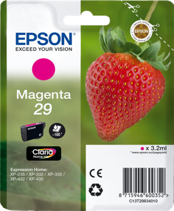Comprar cartucho de tinta C13T29834010 de Epson online.