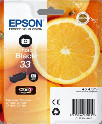 CARTUCHO DE TINTA NEGRO PHOTO 4.5 ML EPSON 33 - (T3341)