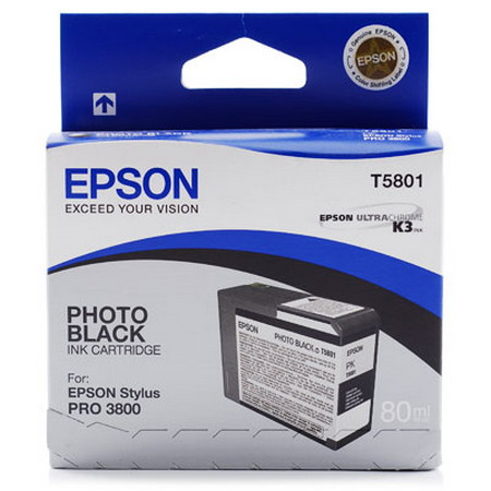 CARTUCHO DE TINTA NEGRO PHOTO 80 ML EPSON T5801