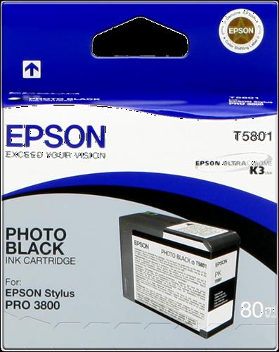 Cartucho de Tinta negro Photo 80 ml Epson T5801
