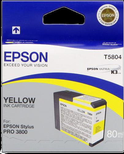 Cartucho de Tinta Amarillo 80 ml Epson T5804