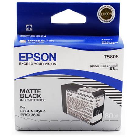 Cartucho de tinta CARTUCHO DE TINTA NEGRO MATE 80 ML EPSON T5808