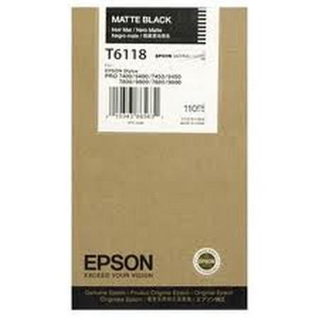 Cartucho de tinta CARTUCHO DE TINTA NEGRO MATE 110 ML EPSON T6118