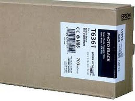 Cartuchos de tinta CARTUCHO DE TINTA NEGRO FOTO 700 ML EPSON T6361