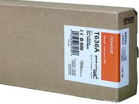 Cartucho de tinta CARTUCHO DE TINTA NARANJA 700 ML EPSON T636A