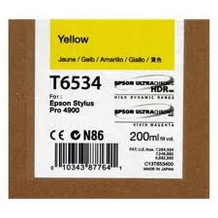 Cartucho de tinta CARTUCHO DE TINTA AMARILLO 200 ML EPSON T6534
