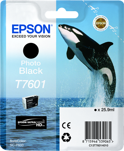 CARTUCHO DE TINTA CIAN 25.9 ML ULTRA CHROME HD EPSON T7602