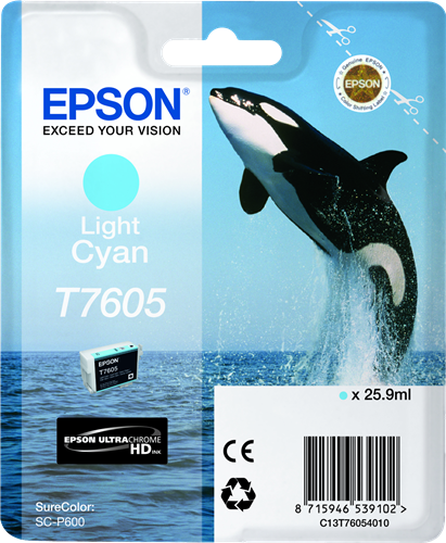 CARTUCHO DE TINTA CIAN CLARO 25.9 ML ULTRA CHROME HD EPSON T7605