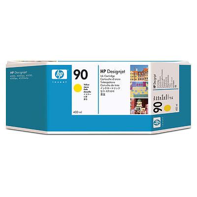 Cartucho de tinta CARTUCHO DE TINTA AMARILLO 400 ML PACK 3 HP Nº 90