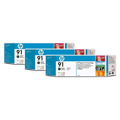 Cartucho de tinta CARTUCHO DE TINTA NEGRO MATE 775 ML PACK 3 HP Nº 91