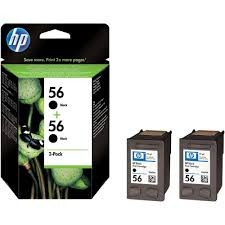 Cartucho de tinta CARTUCHO DE TINTA NEGRO PACK 2 HP Nº 56