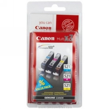 CARTUCHO DE TINTA TRICOLOR 30 ML CANON CLI-521C-M-Y