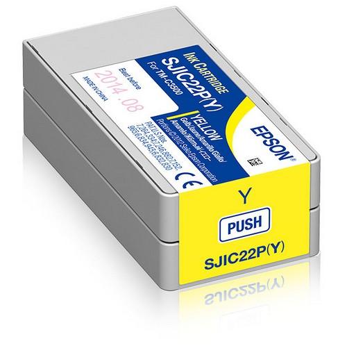 Cartucho de tinta amarillo C33S020604 SJIC22P/Y 32.5ml