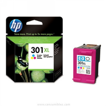Cartucho de Tinta Tricolor Alta Capacidad HP Nº 301XL