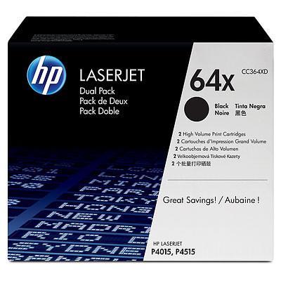 Comprar pack 2 cartuchos de toner CC364XD de HP online.