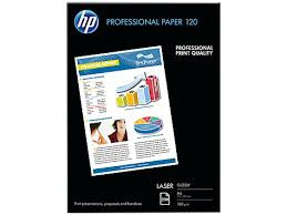 PAPEL LASER GLOSSY PROFESSIONAL A4 120GR 250 HOJAS HP