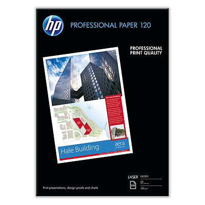 PAPEL LASER GLOSSY PROFESSIONAL A3 120GR 250 HOJAS HP