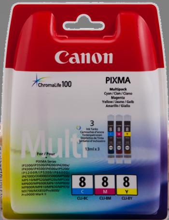 Multipack Cartucho de Tinta Cian - Magenta - Amarillo Canon Canon CLI-8 13,0 ml