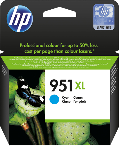 Cartuchos de tinta CARTUCHO DE TINTA CIAN 24 ML ALTA CAPACIDAD HP Nº 951XL