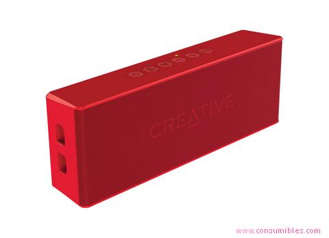 Altavoces portatiles CREATIVE LABS CREATIVE MUVO 2 MONO RECTÁNGULO ROJO (51MF8255AA001)