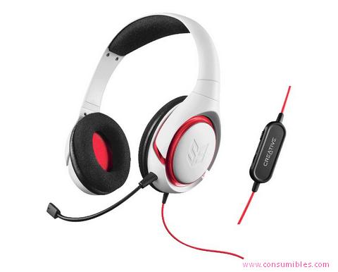 Auriculares con microfono AURICULARES CON MICRÓFONO CREATIVE LABS CREATIVE SB INFERNO (70GH029000002)