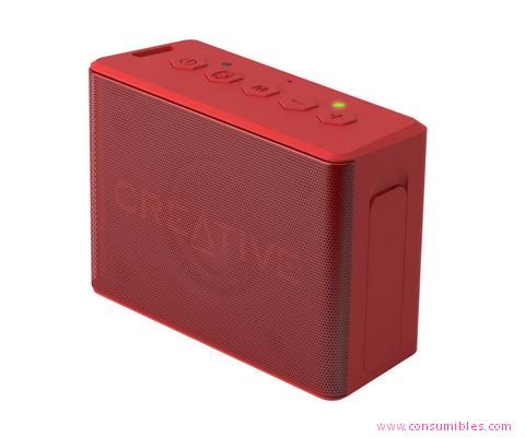 Altavoces portatiles CREATIVE LABS MUVO 2C ESTÉREO RECTÁNGULO ROJO (51MF8250AA001)