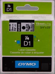 cinta negro sobre Transparente 45800 19 mm x 7m estándard-D1-cinta Dymo