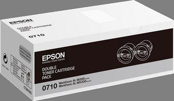 Cartucho de tóner negro Pack 2 Epson S050710