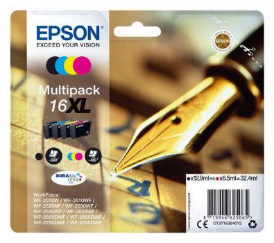 Comprar pack 4 cartuchos de tinta C13T16364012 de Epson online.