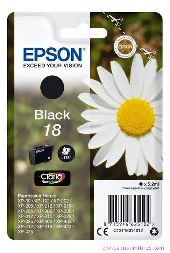 Comprar cartucho de tinta C13T18014012 de Epson online.