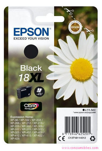 Comprar cartucho de tinta C13T18114012 de Epson online.