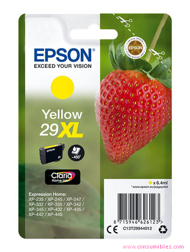 EPSON CARTUCHO AMARILLO XL