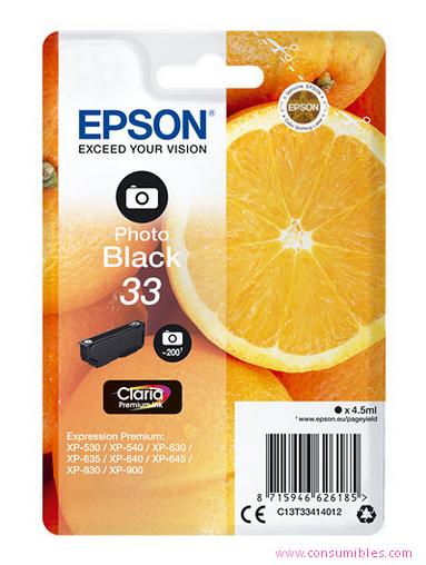 Comprar cartucho de tinta C13T33414012 de Epson online.