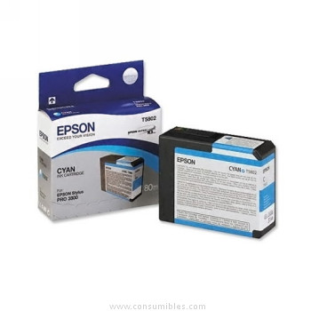 CARTUCHO DE TINTA CIAN 80 ML EPSON T5802