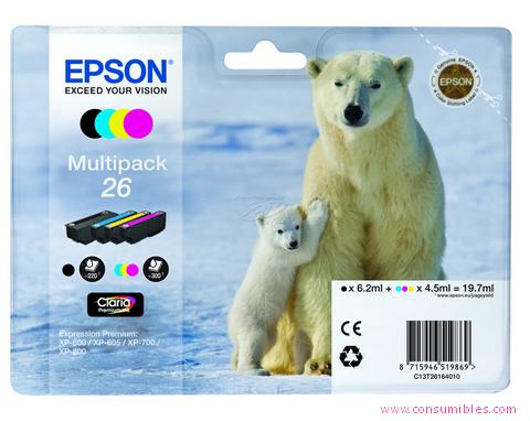 Comprar Pack 2 cartuchos de tinta C13T26164010 de Epson online.