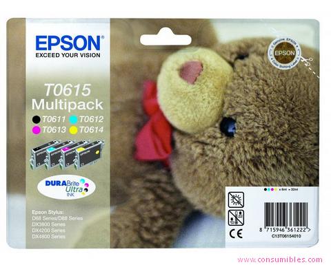 Comprar Rainbow pack cartuchos de tinta C13T06154010 de Epson online.