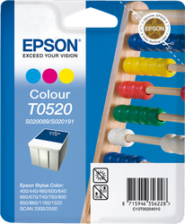 Cartucho de Tinta Color 35 ml C13S0200898 & C13S02019 Epson T0520